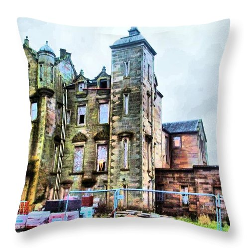 Hunthall Throw Pillow featuring the photograph Hunthall Of Boarland by James Potts