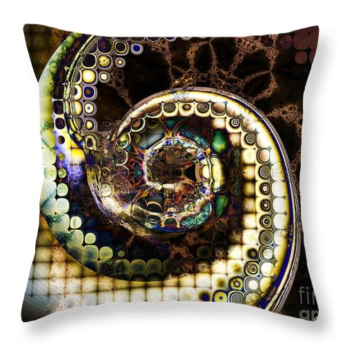 Hurricane Throw Pillow featuring the digital art Hurricane by Elizabeth McTaggart