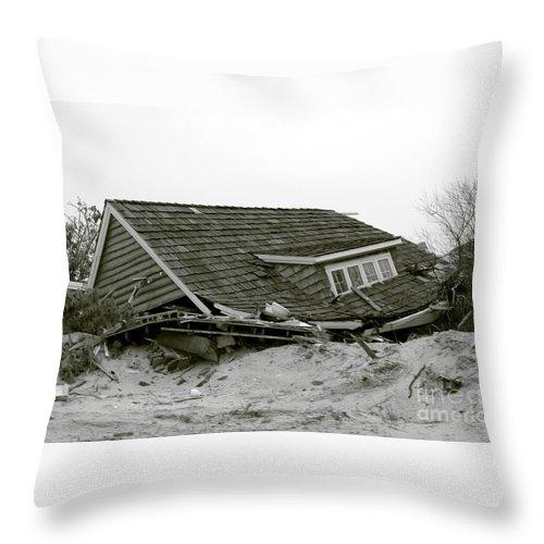 Hurricane Throw Pillow featuring the photograph Hurricane - Sandy - Storm by Susan Carella