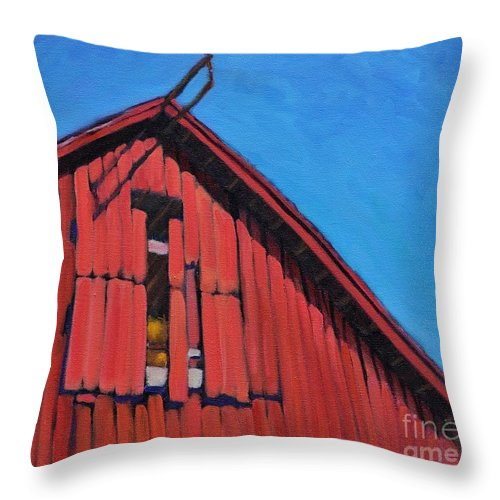 The Hurricane Of 1938 Throw Pillow featuring the painting Hurricane Window by Sylvina Rollins