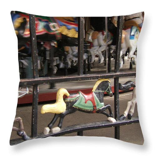 Central Park Throw Pillow featuring the photograph Hurry Hurry by Barbara McDevitt