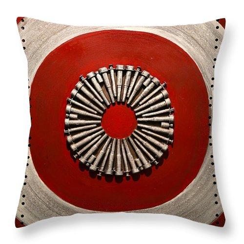 Target Throw Pillow featuring the mixed media Hurt by Mathieu Francoeur