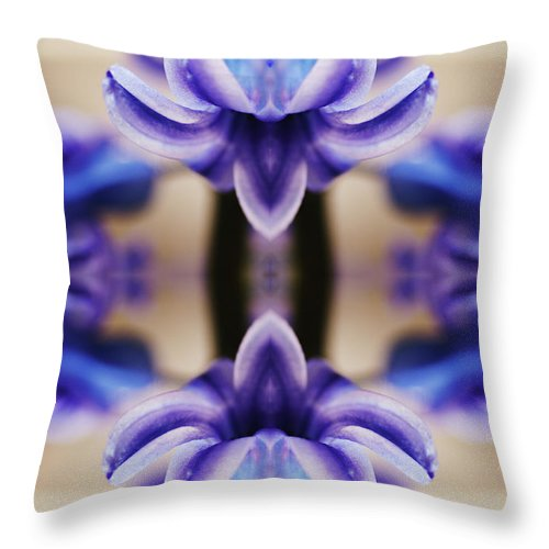 Purple Throw Pillow featuring the photograph Hyazinth by Silvia Otte