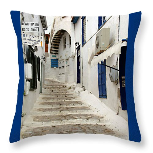 Hydra Lane Throw Pillow featuring the photograph Hydra Lane by Ellen Henneke