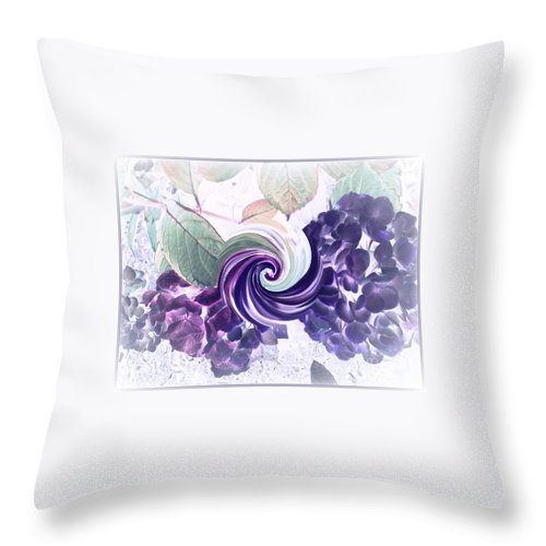 Canvas Prints Throw Pillow featuring the photograph Hydrangeas by Cindy McClung