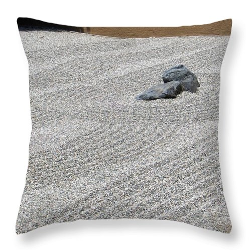 Throw Pillow featuring the photograph I Am A Rock by M Michele Herrick