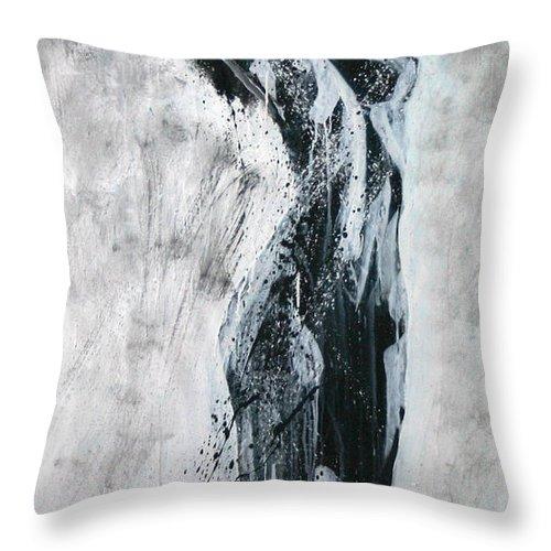 Beautiful Throw Pillow featuring the painting I Am Alive by Jarmo Korhonen aka Jarko