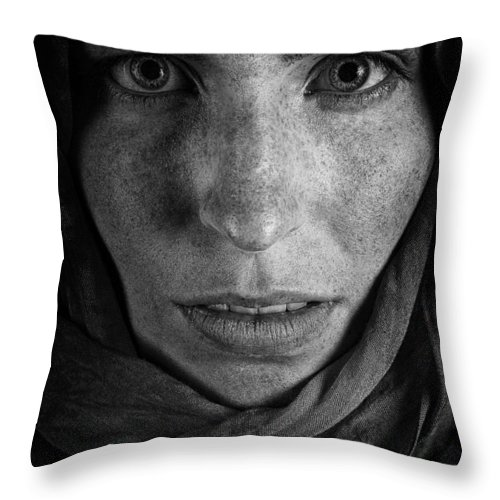 I Am Charlie Throw Pillow featuring the photograph I Am Charlie by Joel Bourgoin