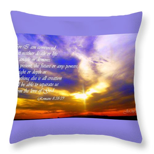 Throw Pillow featuring the photograph I Am Convinced by Jewell McChesney
