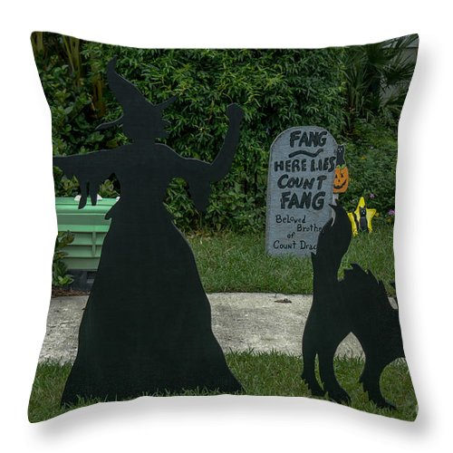 Halloween Throw Pillow featuring the photograph I Am Going To Get You My Pretty by Dale Powell