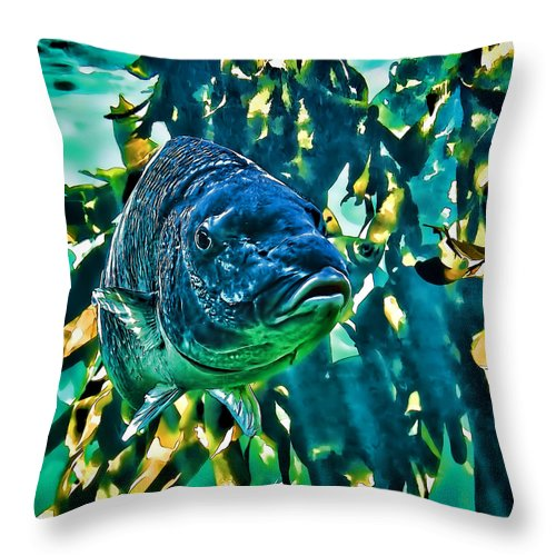 Animals Throw Pillow featuring the digital art Looking At You by Maria Coulson