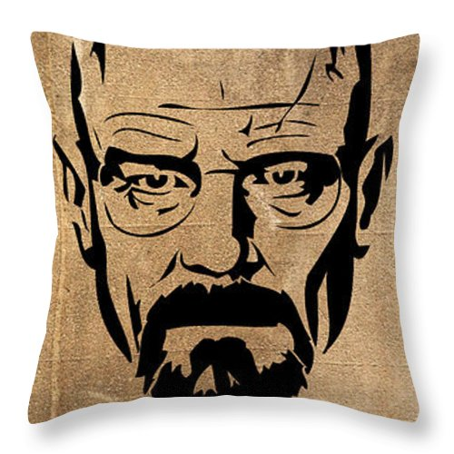 I Throw Pillow featuring the digital art I Am The Danger by Simon Comeau