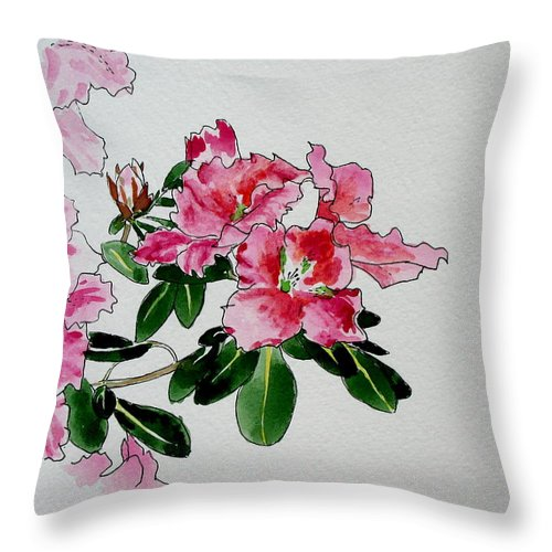 Flowers Throw Pillow featuring the painting Delicate Pink by Svetlana Troitskaia