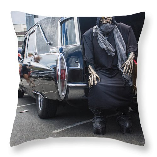 Death Throw Pillow featuring the photograph I Come For You by Michael Podesta