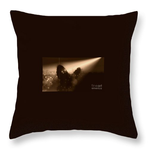 Sepia Throw Pillow featuring the photograph I Found The Light by Jessica Shelton