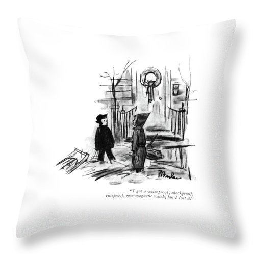 I Got A Waterproof Throw Pillow For Sale By Perry Barlow