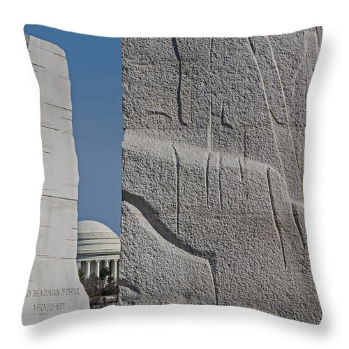 Architecture Throw Pillow featuring the photograph I Have A Dream by Susan Candelario