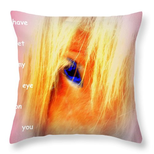 Horse Throw Pillow featuring the photograph I Have Set My Eye On You, But I Have To Let You Go by Hilde Widerberg