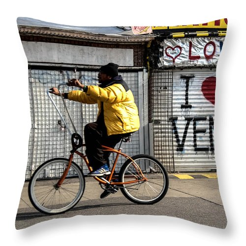 Venice Beach Throw Pillow featuring the photograph I Heart Venice by Tammy Lee Bradley