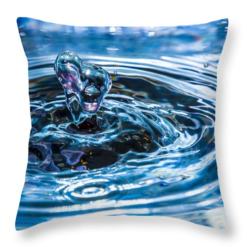 Heart Throw Pillow featuring the photograph I Heart Water by Cj Avery
