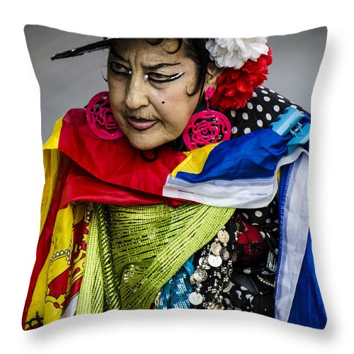 I Love Colors Throw Pillow featuring the photograph I Love Colors by Sotiris Filippou