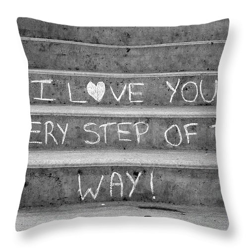 Photographs Throw Pillow featuring the photograph I Love You Every Step of The Way by Brian Chase