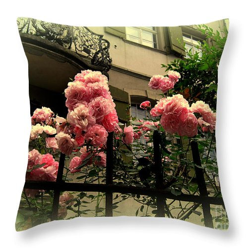 Rose Throw Pillow featuring the photograph I Never Promised You A Rose Garden by Susanne Van Hulst