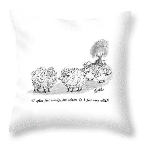 I Often Feel Woolly Throw Pillow