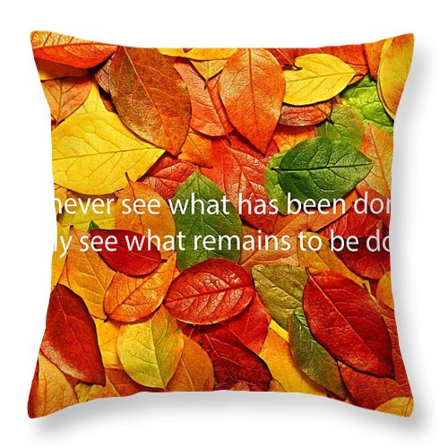 Inspiration Throw Pillow featuring the mixed media I Only See by Marvin Blaine