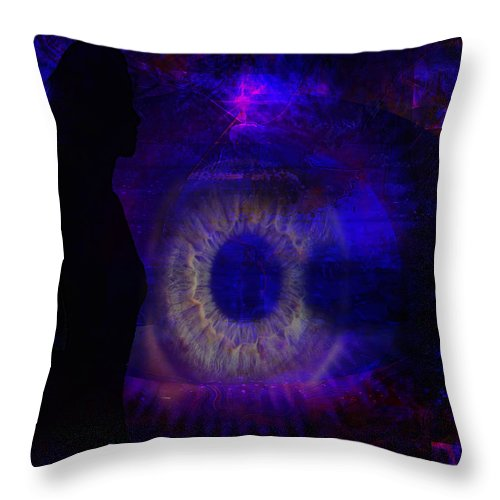 Eyes Throw Pillow featuring the digital art I See by Joseph Mosley