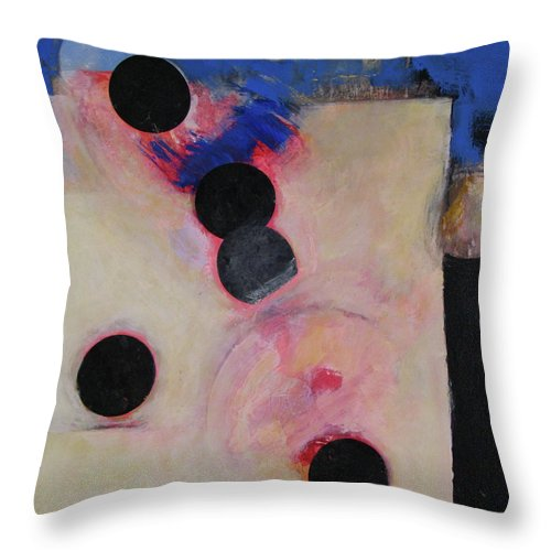 Abstract Painting Throw Pillow featuring the painting I Smell Chocolate by Cliff Spohn