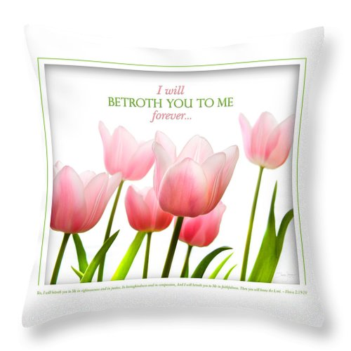 Hosea Throw Pillow featuring the photograph I Will Betroth You by Shevon Johnson
