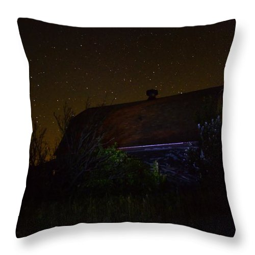 Barn Throw Pillow featuring the photograph Ian At Boylan Creek by Bonfire Photography