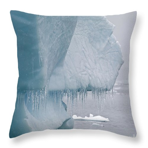 Festblues Throw Pillow featuring the photograph Ice Age... by Nina Stavlund