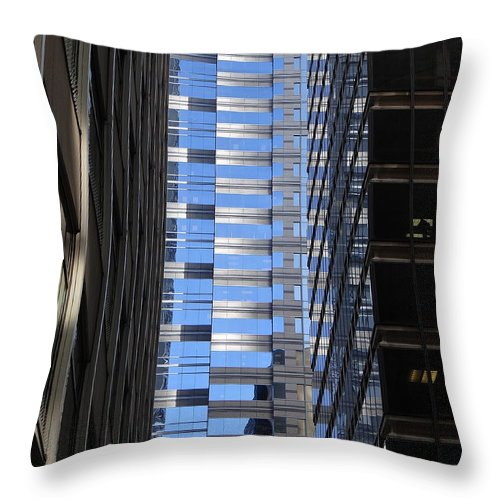 Skyscrapers Throw Pillow featuring the photograph Ice Canyons by Ira Shander