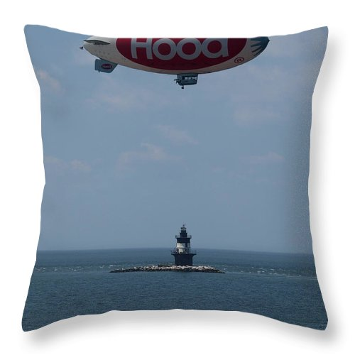 Blimp Throw Pillow featuring the photograph Ice Cream Delivery by Joshua House
