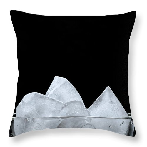 Background Throw Pillow featuring the photograph Ice In A Glass by Alain De Maximy