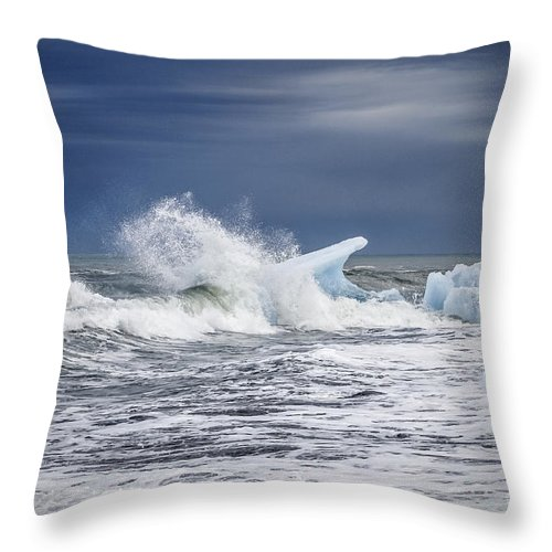 Iceland Throw Pillow featuring the photograph Ice In The Sea by Gunnar Orn Arnason
