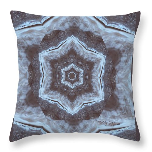 Ice Throw Pillow featuring the photograph Ice by Kristy Jeppson