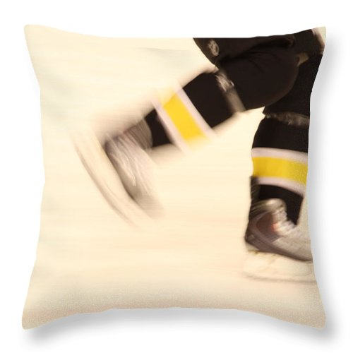 Hockey Throw Pillow featuring the photograph Ice Speed by Karol Livote