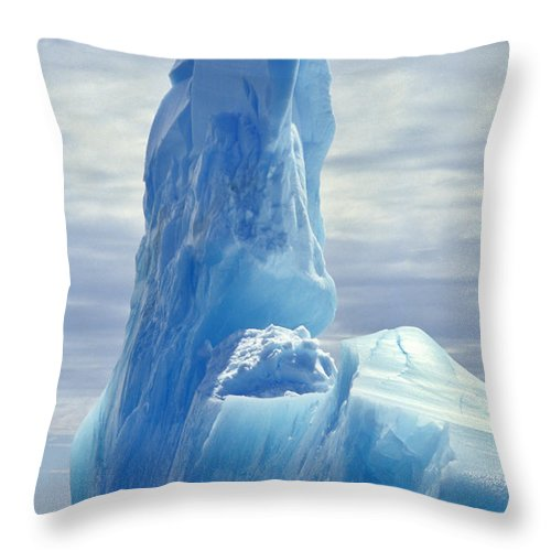 Blue Throw Pillow featuring the photograph Iceberg Antarctica by Frans Lanting MINT Images