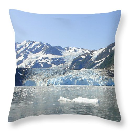 Alaska Throw Pillow featuring the photograph Iceburg by Lew Davis