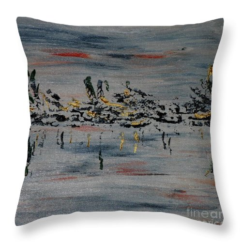 Painting Throw Pillow featuring the painting Icelandscape by Susanne Baumann