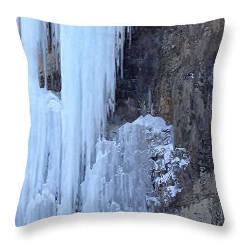 Icicle Throw Pillow featuring the photograph Icicles by Kume Bryant