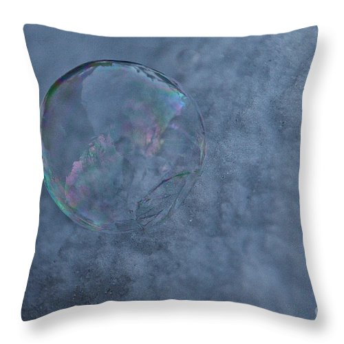 Outdoors Throw Pillow featuring the photograph Icy Air by Susan Herber