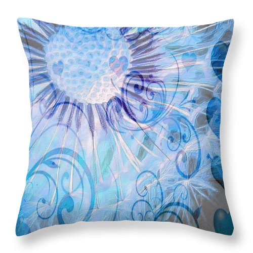 Icy Dandelion Throw Pillow for Sale by Catherine Lott