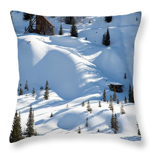 Winter Throw Pillow featuring the photograph Idarado In The Winter by John Daly