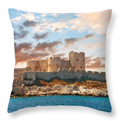 Ancient Throw Pillow featuring the photograph If Castle by Gurgen Bakhshetsyan