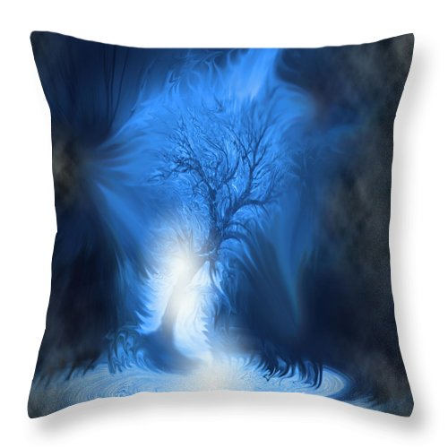 Surreal Throw Pillow featuring the digital art If I Fall by Cathy Beharriell