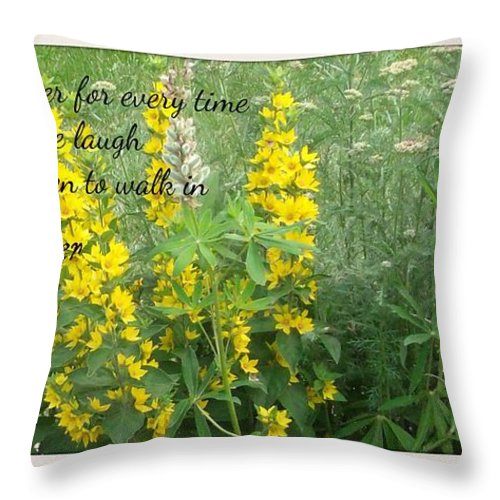 Friend Throw Pillow featuring the photograph If I Had A Flower by Gail Matthews
